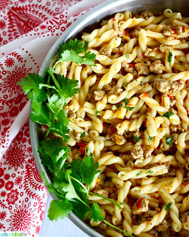 Tri-Pepper Turkey Pasta side photo
