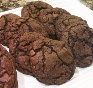 plate of Chocolate Cake Mix Cookies