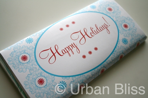 12 Days of Printable Giveaways-Day 9: Holiday Candy Wrappers