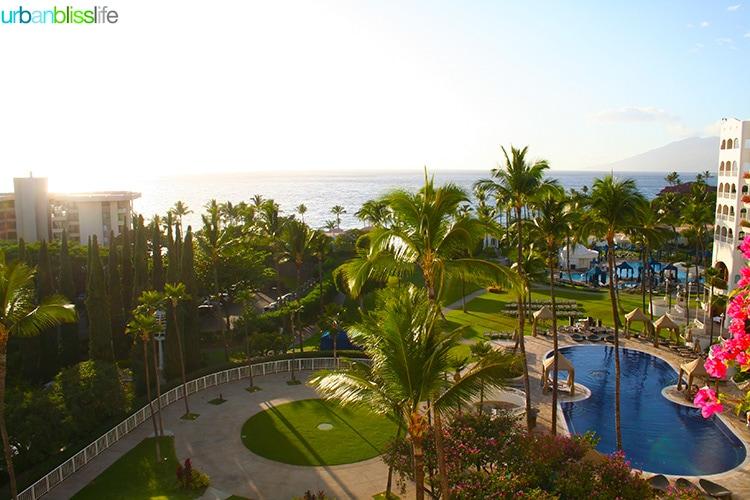 overhead view of pools at fairmont kea lani maui