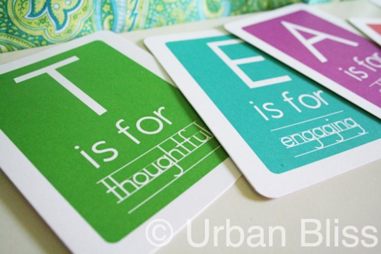 Teacher Appreciation Printable Flash Cards