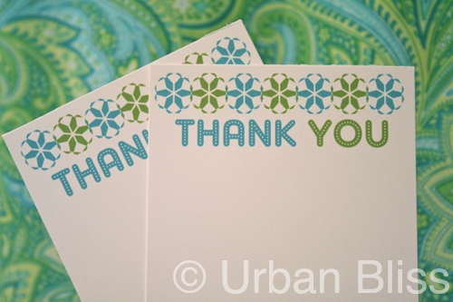 {12 Days of Printable Giveaways} Day Five: Holiday Thank You Cards