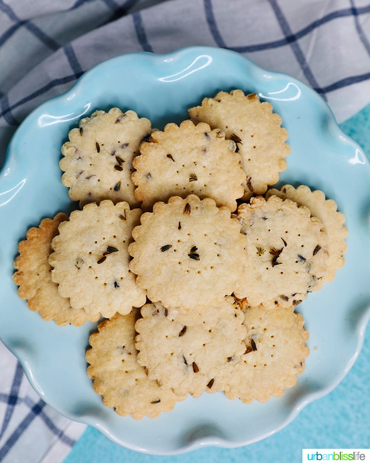 lavender shortbread cookies on a place