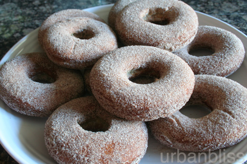 Apple Spice Donuts on a plate