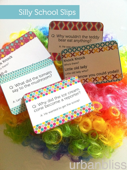 Free Printable: Silly School Slips by Urban Bliss