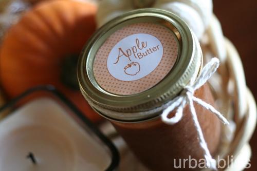 Apple Butter recipe - apple butter label by Urban Bliss