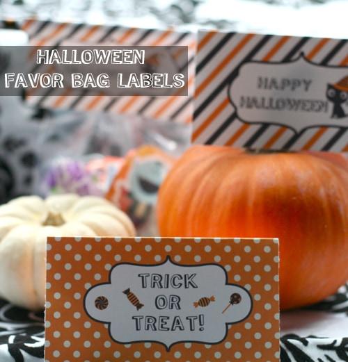 Free Halloween Printable: Favor Bag Labels