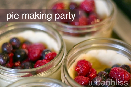 Mini berry pies in a jar