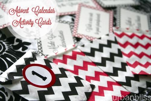 Printable Advent Calendar Activities