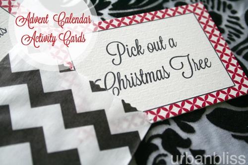 DIY Advent Calendar + Printable Activity Cards