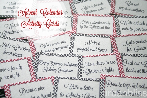 Printable DIY Advent Calendar Activities