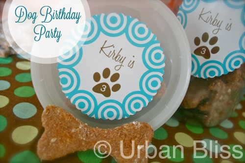 Dog Birthday Party Ideas & Homemade Dog Treat Recipe