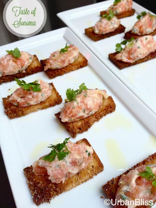 Taste of Sonoma - salmon app