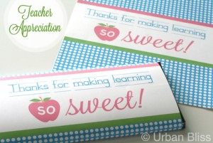 Teacher Appreciation - Candy Bar Wrappers