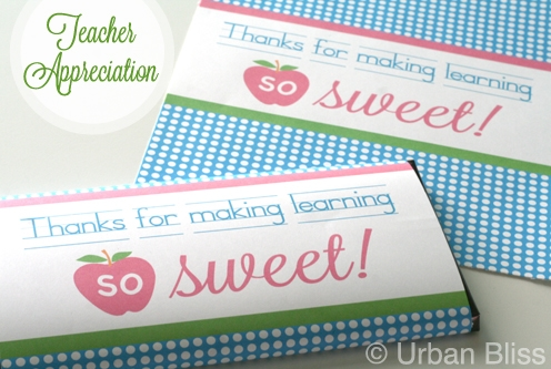 photo relating to Printable Hershey Bar Wrappers named Trainer Appreciation 7 days Printable 4 of 5: Sweet Bar