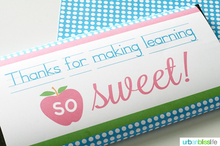 Printable Candy Bar Wrappers Teacher Appreciation Urban Bliss Life