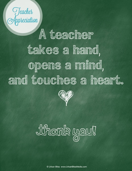Teacher Appreciation Week Printable 3 of 5: Thank You ...