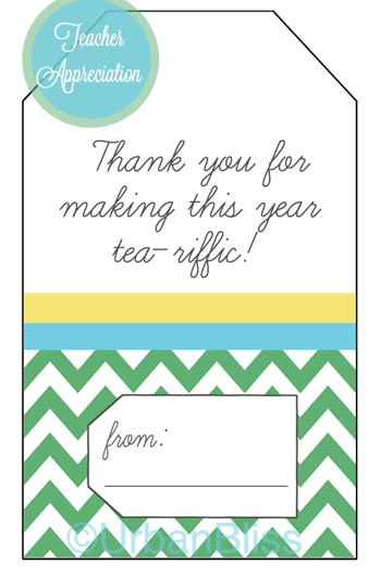picture about Teacher Appreciation Printable Tags identified as Instructor Appreciation 7 days Printable 5 of 5: Tea Reward Tags