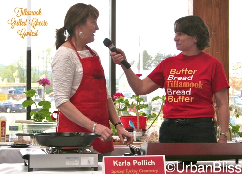 Tillamook Grilled Cheese Contest - Susan interviewing Karla
