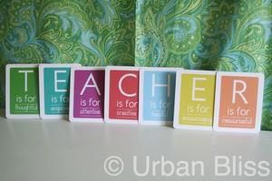 Teacher Appreciation Week Printable 1 of 5: Teacher Flashcards