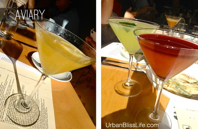 Aviary restaurant happy hour cocktails