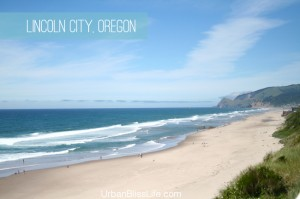 Lincoln City Oregon beach