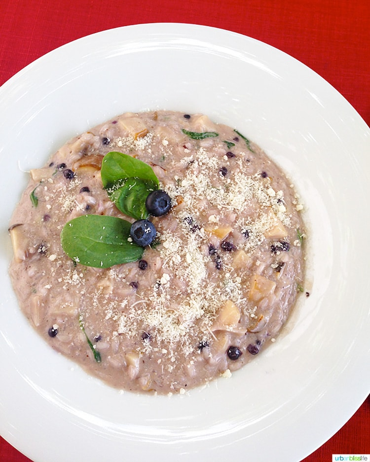 delicious blueberry risotto at Castles of Bellinzona
