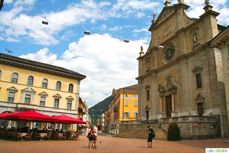 Beautiful Bellinzona Switzerland town square