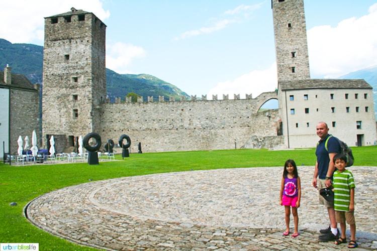 switzerland with kids: Castles of Bellinzona