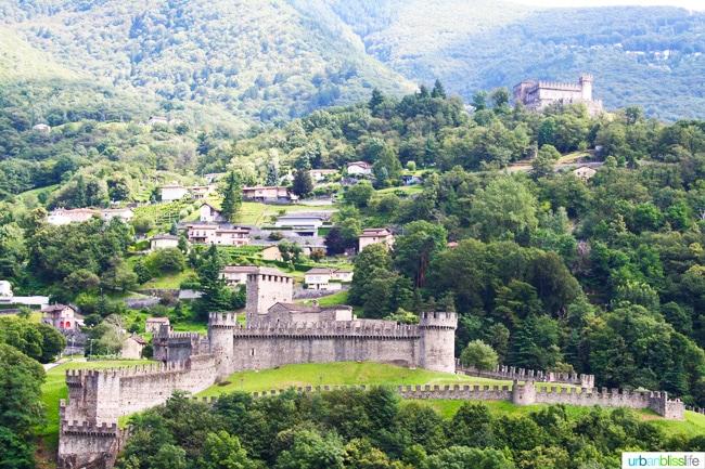 two of the Three Castles of Bellinzona
