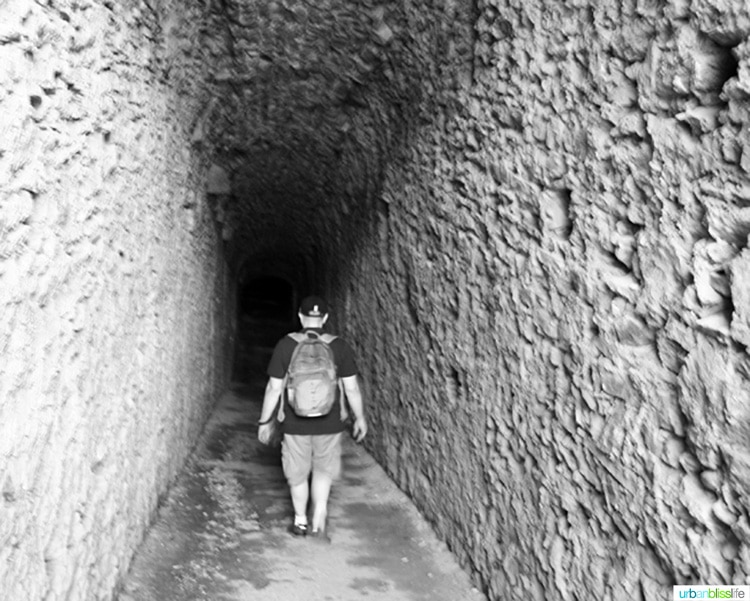 underground tunnel in the Bellinzona castlegrande