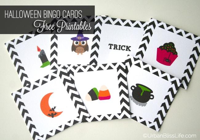 FREE Halloween Bingo Card Printables by Urban Bliss