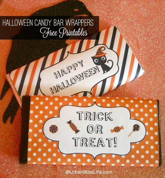 Halloween Candy Bar Wrapper