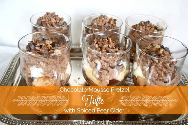 Chocolate Mousse Pretzel Trifle with Spiced Pear Cider Recipe ...