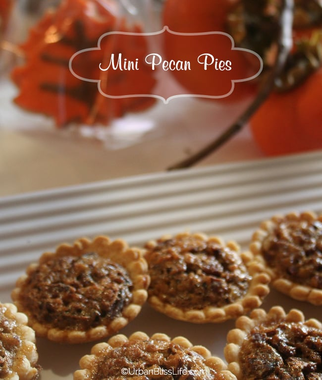 Recipe for Mini Pecan Pies