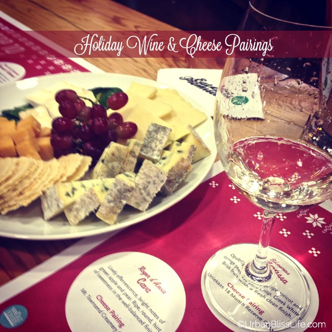 Holiday Wine and Cheese Pairing - white wine