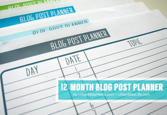 Blog Post Planner 2©UrbanBlissMedia