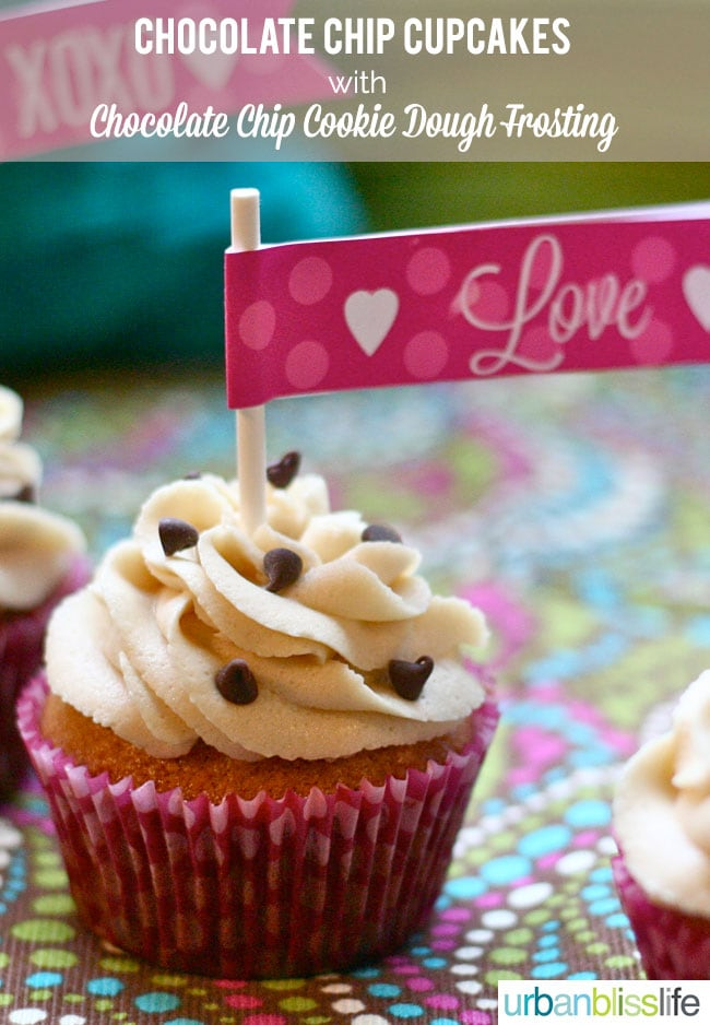 Chocolate Chip Cupcakes with Chocolate Chip Cookie Dough Frosting. We ...