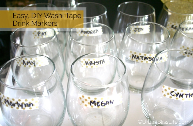 DIY Washi Tape Drink Markers