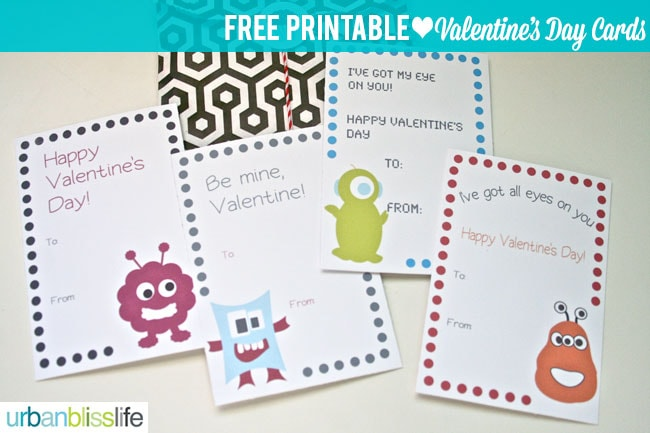 Free Printable Week Silly Monster Valentines Day Cards Urban – Monster Valentine Cards