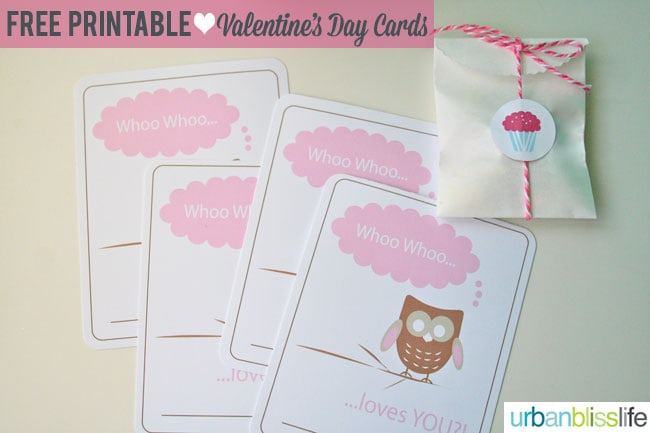 Whoo Loves You Free Printable Valentine's Day Card