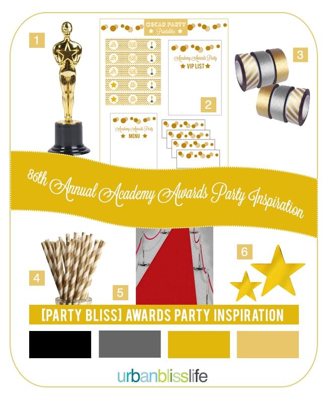 Oscar Themed Party Ideas Inspiration Board