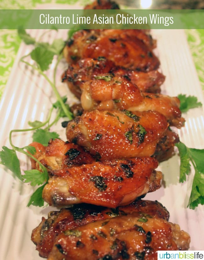 Cilantro Lime Asian Chicken Wings recipe on UrbanBlissLife.com