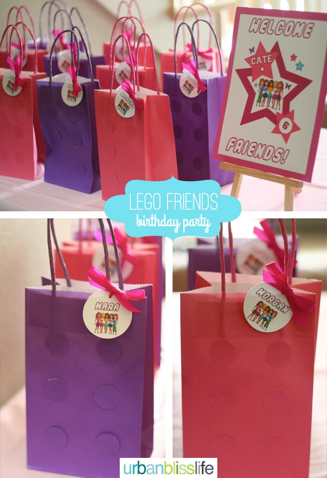 LEGO Friends Birthday Party Favor Bags