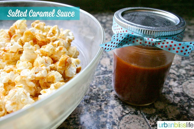 Salted Caramel Sauce and Popcorn