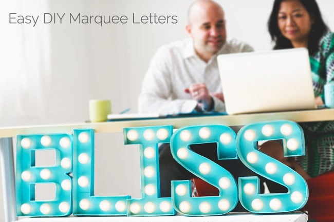 [DIY Bliss] Easy DIY Marquee Letters Tutorial