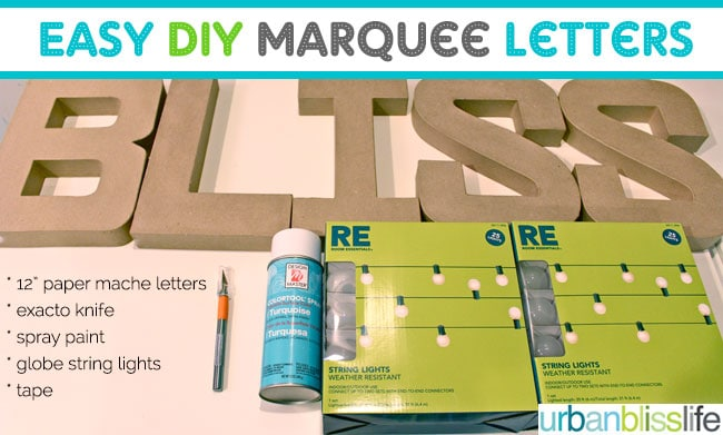 easy diy marquee letters