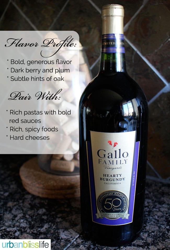 Gallo Hearty Burgundy Flavor Profile