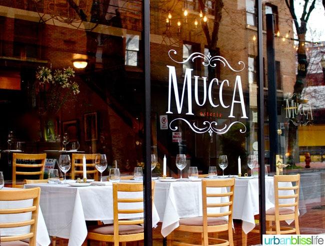 Mucca Osteria Italian restaurant in Portland, Oregon