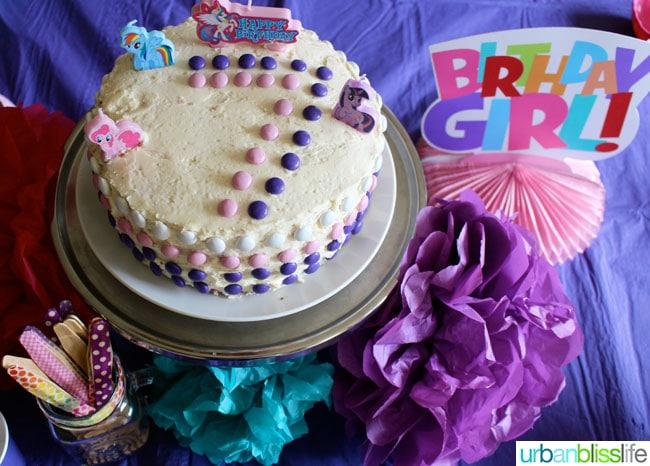 My Little Pony Ombre Cake
